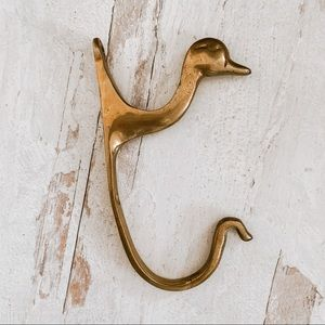 Vintage Brass Duck Hook